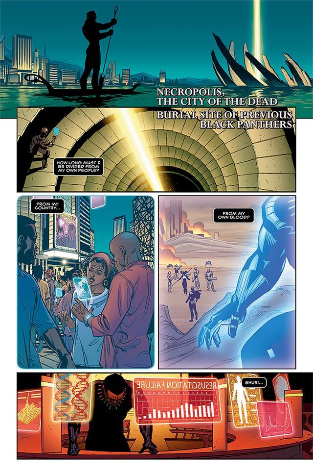 画像: タネヒシ・コーテスが書いた新しい『ブラック・パンサー』シリーズのコミック本から COURTESY OF MARVEL