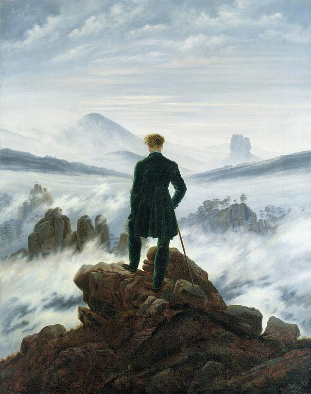 """画像: """"WANDERER ABOVE THE SEA OF FOG,"""" 1818(OIFRIEDRICH, CASPAR DAVID(1774-1840) THE GALLERY COLLECTION / CORBIS / AMANAIMAGES"""