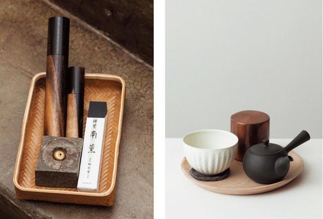 画像: 日常的に使っているグッズを見せてほしい、というリクエストにこたえてくれた。左はお香のセ ット。京都の松榮堂のお香を好んで使っている。作曲するときに焚くこともあるし、ライブ時にもステージ脇で香りを焚いてから演奏に挑む。スタジオに入る前、ブレイク時には、お茶やコーヒーを自分で淹れる。お湯の温度や蒸らし時間まで、おいしくするための努力は惜しまない