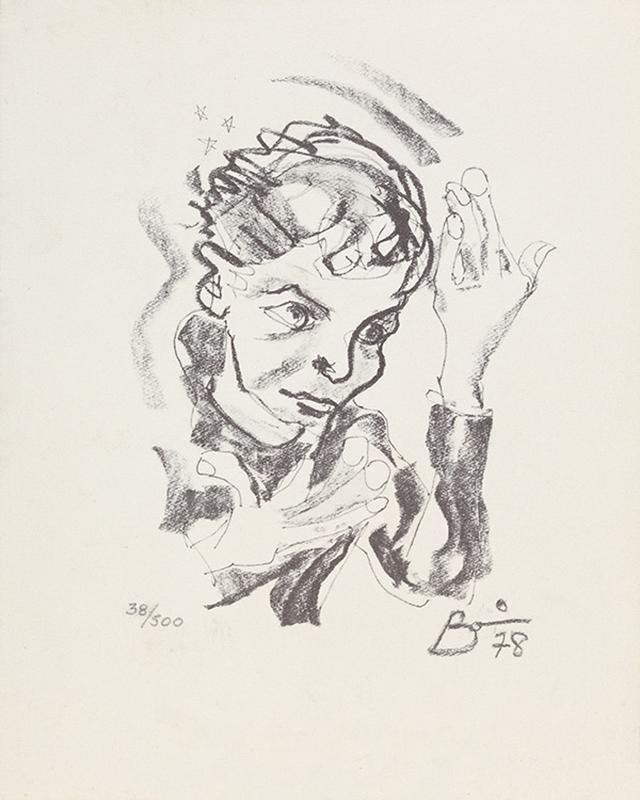 画像: 展覧会『DAVID BOWIE is』に出展される自画像。鋤田正義が撮影した、アルバム『ヒーローズ』のアイコニックなジャケットと同じポーズをとっている PRINT AFTER A SELF-PORTRAIT BY DAVID BOWIE,1978/ COURTESY OF THE DAVID BOWIE ARCHIVE/ IMAGE ⓒ VICTORIA AND ALBERT MUSEUM