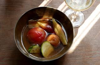 8月のレシピ|夏野菜の梅煮びたし