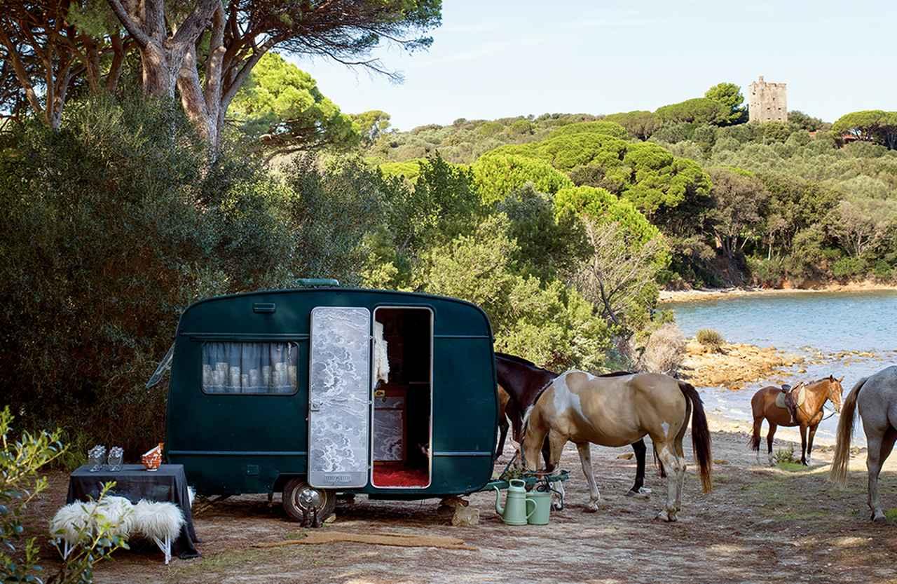 馬と緑とキャンピング・カーと。 トスカーナの海岸で過ごす夏 - T JAPAN:The New York Times Style Magazine 公式サイト