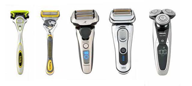 画像: ヒゲ剃りを助ける最新アイテム (写真左から) ジェル成分にアロエとビタミンEを配合した敏感肌用。 シック ハイドロ5 プレミアム 敏感肌用(オープン価格) シック・ジャパン TEL. 03(5487)6801 極薄の 5 枚刃を採用し、刃の前後にジェルスムーサーも搭載して肌を守る。 ジレット フュージョン 5+1 プロシールド<ホルダー、替刃2個付>(オープン 価格) P&Gお客様相談室 フリーダイヤル:0120-113-937 世界最速のリニアモーター駆動がパワフル。 パナソニック ラムダッシュES-LV9(B オープン価格) パナソニック フリーダイヤル:0120-878-365 「ハイブリット 5 カットシステム」などを搭載した最新モデル。 ブラウン シリーズ99295CC (オープン価格) ブラウン お客様相談室 フリーダイヤル:0120-136-343 輪郭検知テクノロジーで顔の凹凸をカバー。 フィリップス シェーバー 9000 S9711V/33(オープン 価格) フィリップスTEL. 0570-07-6666
