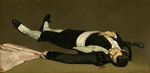画像: ''The Dead Toreador,'' probably 1864, oil on canvas,Widener Collection, National Gallery of Art