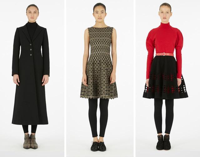 画像: シグニチャーアイテムであるアウターやワンピースドレス、ニット、スカートなども揃う