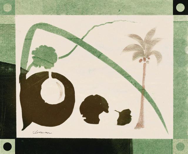 画像: ココナッツ、水彩画 「エキゾチックな果物の描写は、この時代の典型的な英印ボタニカルアートよ」