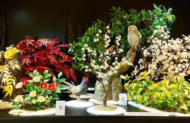 画像: 日本の花鳥風月が凝縮された「四季」。昔ながらの里山を思わせる。中央の雉は、「宗家 源吉兆庵」の創業の地・岡山の「桃太郎伝説」に由来する