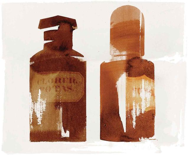 画像: (左)ガラスボトル/ウルグアイ、Clorur. Potas.(塩化カリウム)、1950年頃 (右)ガラスボトル/ウルグアイ、Formol(ホルムアルデヒド)、1950年頃 ほかの写真を見る