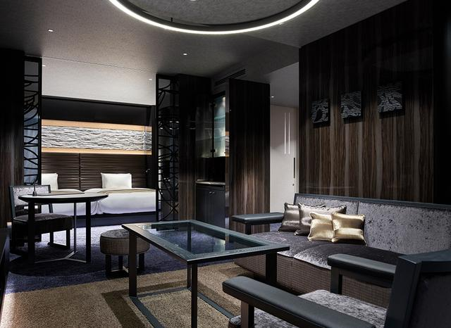 画像: 客室「プレミアツイン」<55.9㎡>。 ベッドルームとリビングルームが独立したホテル最大の空間 ほかの写真をみる
