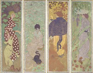 ピエール・ボナール《庭の女性たち》