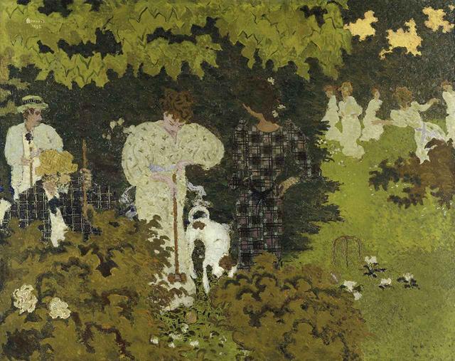 画像: ほかの写真をみる ピエール・ボナール《黄昏(クロッケーの試合)》 1892年 油彩、カンヴァス 130.5×162.2cm オルセー美術館 © RMN-GRAND PALAIS (MUSÉE D'ORSAY) / HERVÉ LEWANDOWSKI / DISTRIBUTED BY AMF