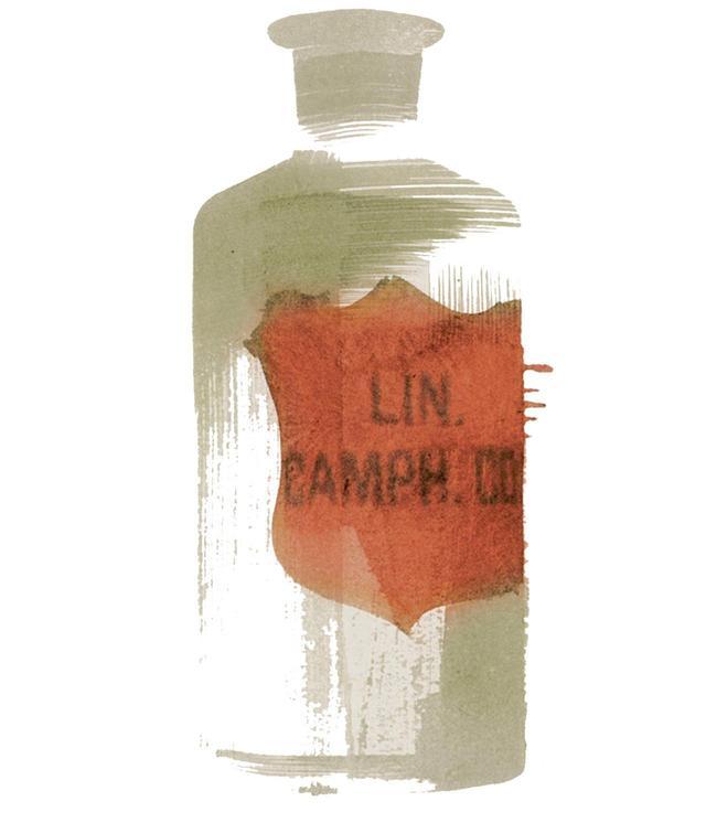 画像: ガラスボトル/ポルトガル、Lin. Camph. Co.(ショウノウとコットン シードオイル)、年代不詳 ほかの写真を見る