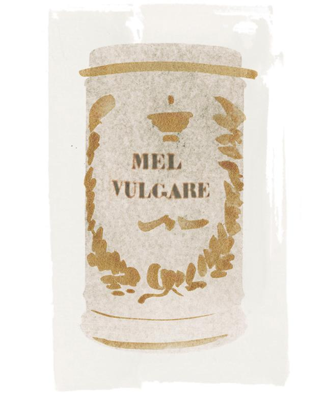 画像: 陶器製ジャー/イタリア、Mel Vulgare(はちみつ)、年代不詳 ほかの写真を見る