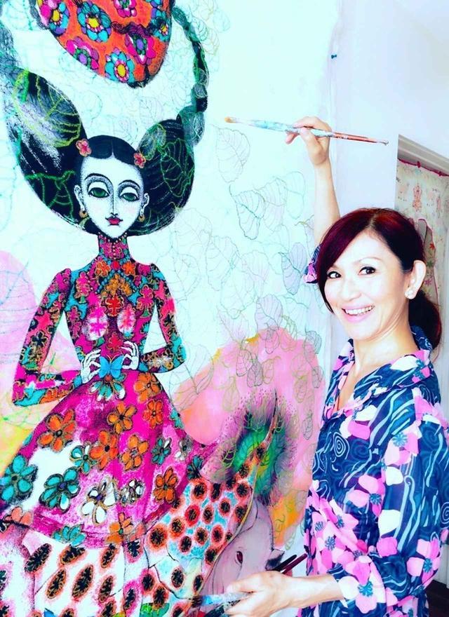 画像1: 画家・藤田理麻の魂の軌跡を 読みとく展覧会『Anjali』
