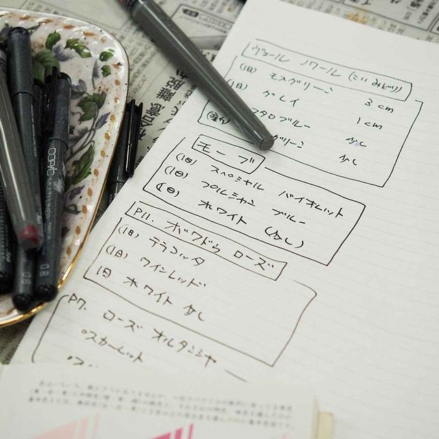 画像: 色の調合レシピ。いくつかのインクをミックスし表現したい色を作る ほかの写真をみる