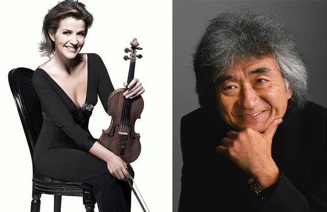 画像: (写真左から)アンネ=ゾフィー・ムター (© ANJA FRERS/DG)、小澤征爾(© SHINTARO SHIRATORI)
