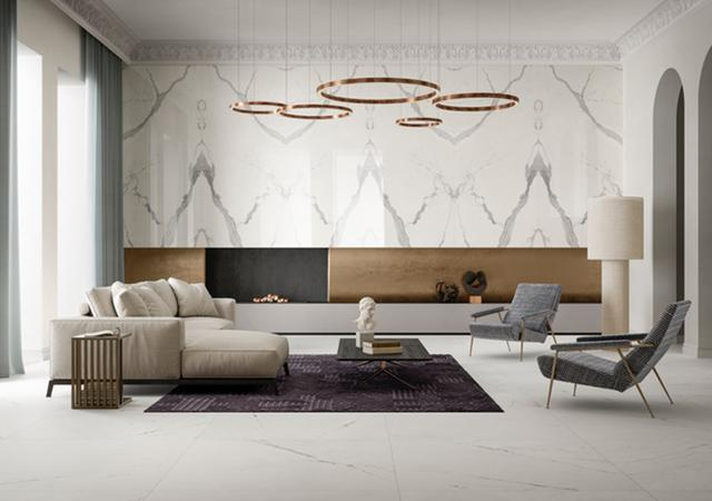 画像: カララ大理石をイメージした、艶のあるホワイトのタイル「Vanity」コレクション © COTTO D'ESTE ほかの写真を見る