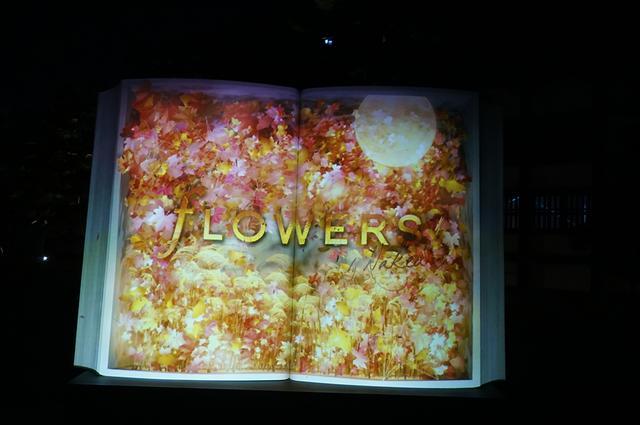画像: 昼間一般公開される「二の丸御殿」そばに位置する重要文化財、「御台所」と「御清所」がライトアップのメイン会場。入り口では、今回のテーマを語る大きな本のオブジェ「BIG BOOK~秋の初風~」が来場者を迎える PHOTOGRAPH BY TAKAKO OHARA