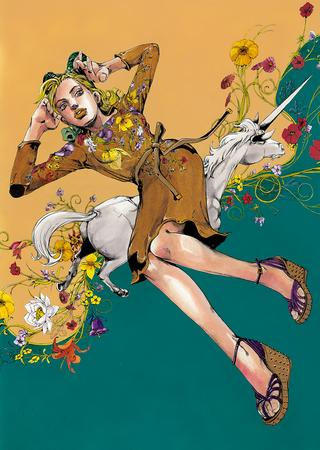 """Jolyne, Fly High with GUCCI"" from Spur, Vol. 2, 2013"