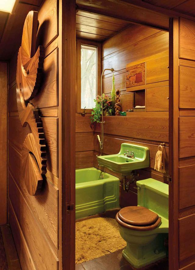 画像: ほかの写真をみる フランク・ロイド・ライト設計のスミス邸の内装
