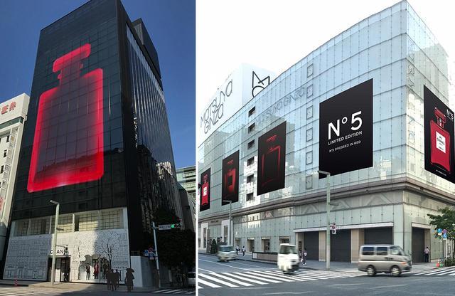 画像: 赤い「N°5」がホリデーシーズンの銀座、そして渋谷の街を染め上げる。写真は銀座 PHOTOGRAPHS: COURTESY OF CHANEL