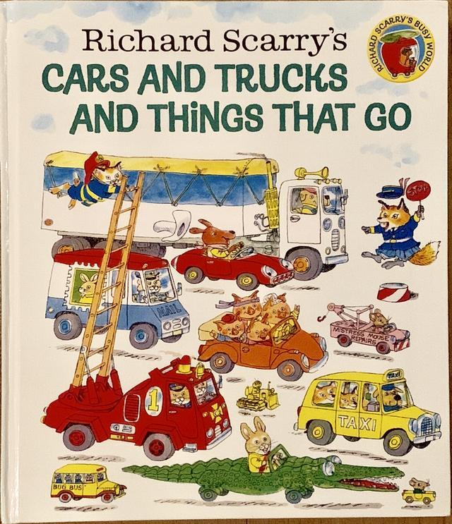 画像: 9. 『Cars and Trucks and Things that Go』 作:Richard Scarry 発行:Harper Collins 「アメリカ人の友人からもらったものですが、アメリカではスタンダードな絵本で、70年代からあるそうです。好きなページを開いて眺めるだけでも楽しむことができます」