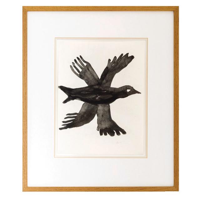 """画像: LE CORBUSIER,""""UNTITLED,""""WATERCOLOR OF A BIRD, © F.L.C./ADAGP, PARIS/ARTISTS RIGHTS SOCIETY(ARS), NEW YORK 2018, COURTESY OF AKRIS"""