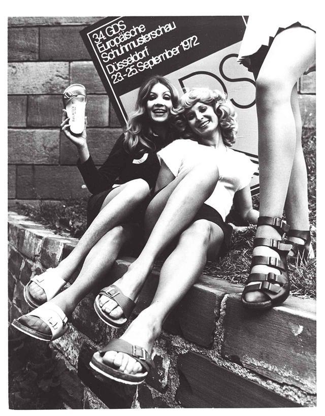 画像: 1972年の広告ビジュアル。すでにドイツでは女性の間でも人気を集めていた COURTESY OF BIRKENSTOCK