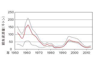 太平洋クロマグロの資源量推移