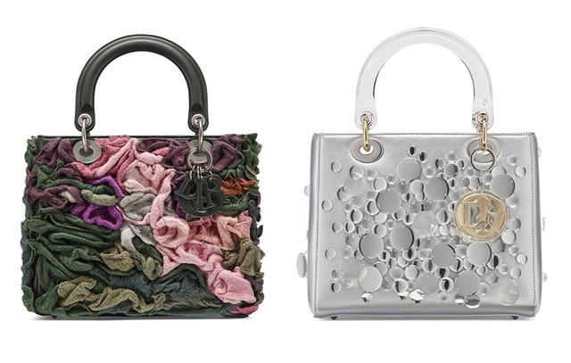 画像: (左から)ジャナイナ・チェッペによるバッグ(ミディアムサイズ)¥1,200,000、 荒神明香によるバッグ(ミディアムサイズ)¥1,100,000 COURTESY OF DIOR ほかのバッグをみる