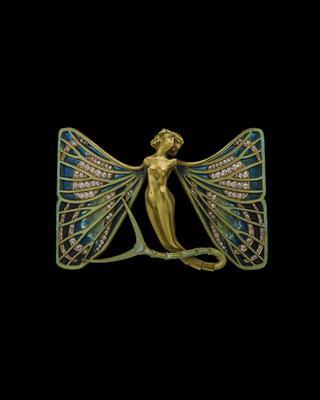 「シルフィードのバタフライ ブローチ」 ルネ・ラリック<1898~1900年頃>