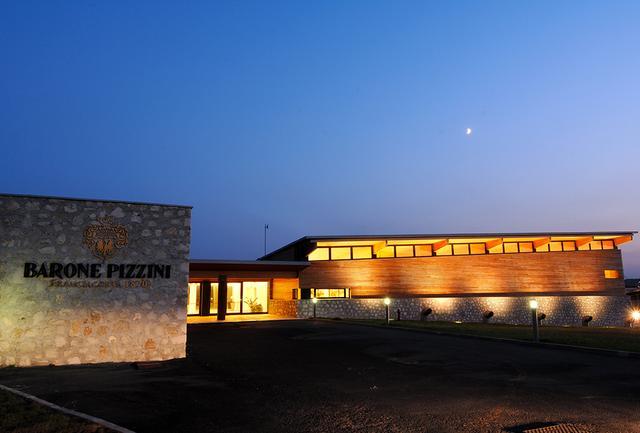 画像: モダンな印象のワイナリー。目の前にブドウ畑が広がる COURTESY OF BARONE PIZZINI