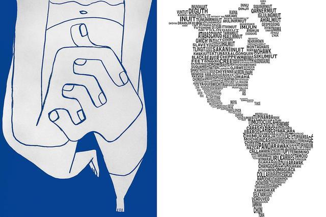 画像: (写真左)ペドロ・レイエスのドローイング (写真右)ペドロ・レイエスとカーラ・フェルナンデスによるグラフィックマップ LEFT: COURTESY OF PEDRO REYES; RIGHT: COURTESY OF PEDRO REYES AND CARLA FERNANDEZ