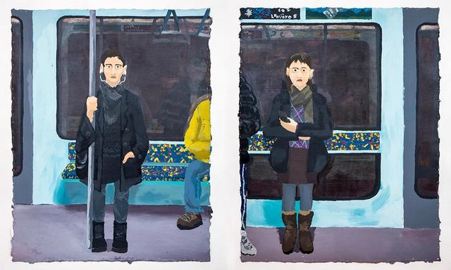 画像: マニュエル・ソラーノの《In the Metro, or She's Not Pretty(地下鉄で、あるいは彼女はちっとも美しくない)》 2018年 COURTESY OF THE ARTIST AND PERES PROJECTS, BERLIN