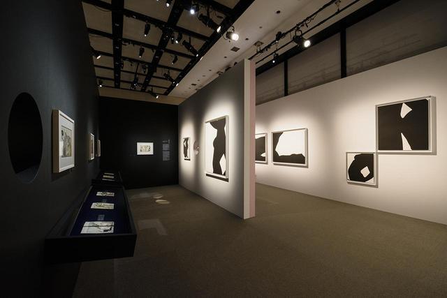 """画像: 展示風景。セルネの作品は、19世紀の日本の掛け軸に触発されたもの。また春画への""""応答 """"でもあるという © CHANEL NEXUS HALL"""