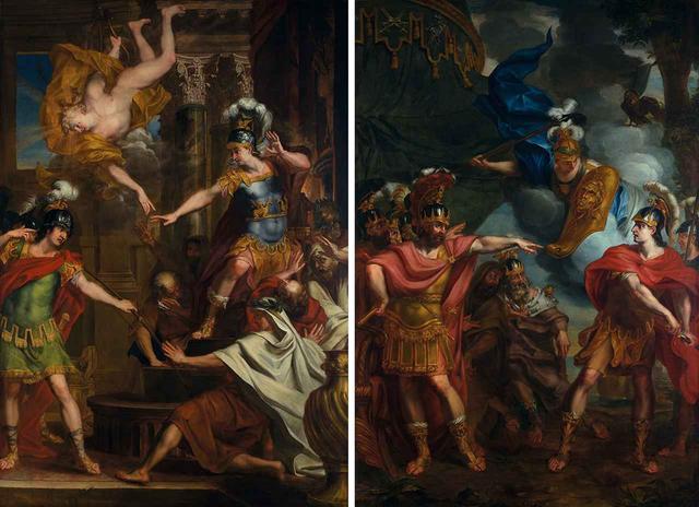 画像: エラルート・デ・ライレッセ (左から)《パリスとアポロがアキレスの踵に矢を向け命を狙う》、《アキレスとアガメムノンの口論》