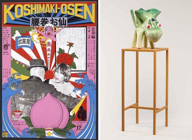 画像: (写真左から) 横尾忠則 《腰巻お仙》(劇団状況劇場)1966年 加藤泉 《Untitled》2013年 PHOTOGRAPHS: COURTESY OF MUSEUM OF CONTEMPORARY ART TOKYO