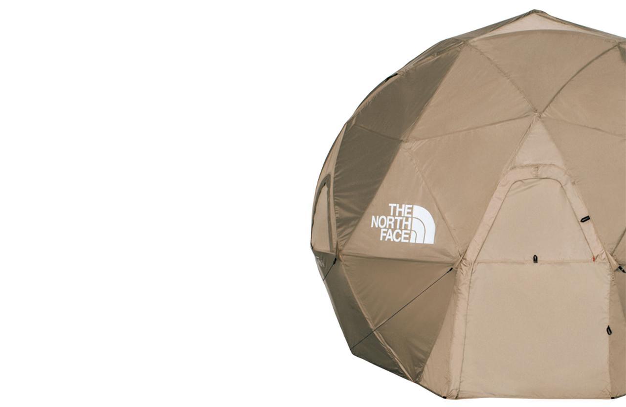 """画像: ザ・ノース・フェイスの「ジオドーム4」のフライシートを""""TAN""""カラーで製作した限定モデル。 ¥220,000 ゴールドウイン カスタマーサービスセンター(THE NORTH FACE × HYKE) フリーダイヤル: 0120-307-560 公式サイト COURTESY OF HYKE"""