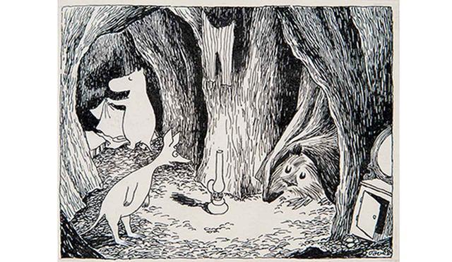 画像: トーベ・ヤンソン 《「ムーミン谷の彗星」挿絵》 1946年、1968年(改作) インク・紙 ムーミン美術館