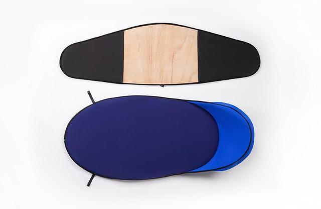 画像: 「Tense ラウンジチェア」 動かさなくてもいい家具から、持ち運ぶための家具へと発想の転換。そのために家具の作り方そのものを変えた