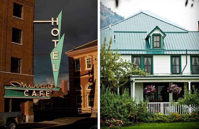 画像: (写真左)マレー・ホテル (写真右)チコ・ホット・スプリングス