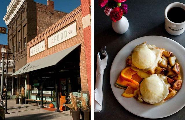画像: (写真左)マスタング (写真右)ピンキーズ・カフェ