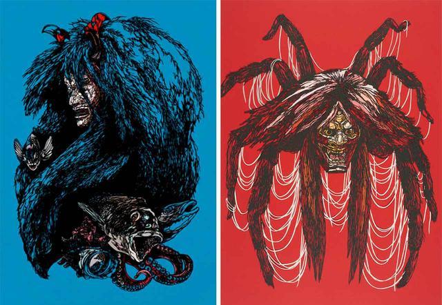 画像: (左から)《船弁慶》、《土蜘蛛》
