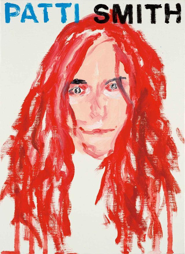 画像: ミュージシャンで詩人のパティ・スミス。この赤い髪に象徴されるように、横尾は人物像を直観で感じ取り表現する Patti Smith Artist and Musician United States of America 2014, Acrylic on canvas