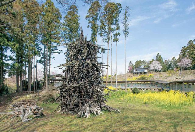 画像: 蔡の《炎の塔》が置かれた美術館の中庭