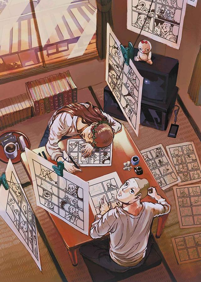 画像: 大英博物館が収蔵する、中村 光の『聖セイント☆おにいさん』第10巻/講談社 のグラフィック。ブッダとイエスが東京・立川で共同生活をする、ルマニエールお気に入りのコメディ © HIKARU NAKAMURA / KODANSHA LTD.