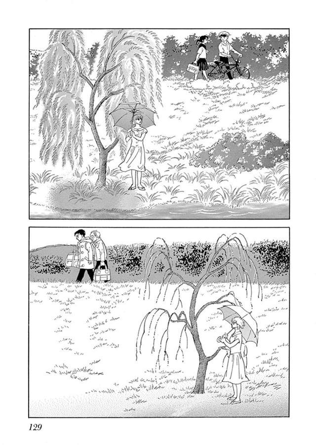 画像: 萩尾望都の「柳の木」(『山へ行く』/小学館 に収録)。「セリフがないことで、人物の心情がより伝わってくる作品」 © MOTO HAGIO / SHOGAKUKAN INC.