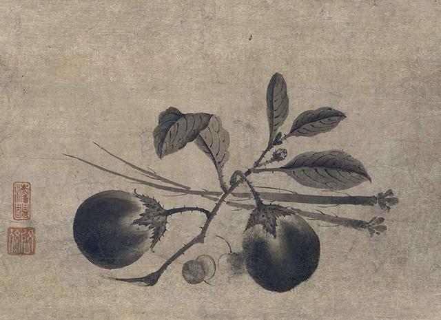 画像: 《蔬菜図(そさいず)》 啓孫(けいそん)筆 1幅 日本・室町時代 16世紀 根津美術館蔵 PHOTOGRAPHS: COURTESY OF NEZU MUSEUM