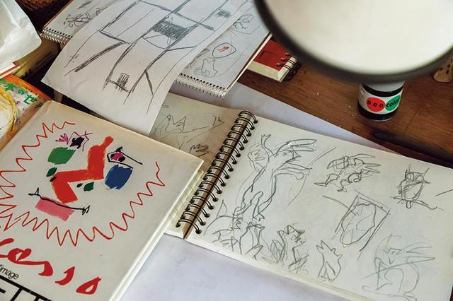画像: 今年7月の展覧会では「鳥獣戯画絵巻」をヒントに、新しい作品を発表予定