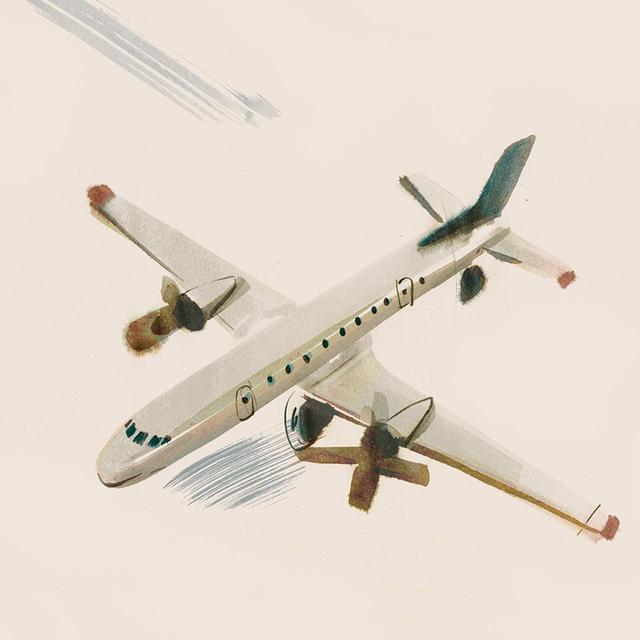 画像: 金属製プロペラエンジン旅客機/1950年代